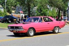 美丽的汽车,萨拉托加斯普林斯,纽约的一个例子在街市游行的, 2016年 免版税库存图片