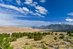 美丽的沙丘横向山 免版税库存图片