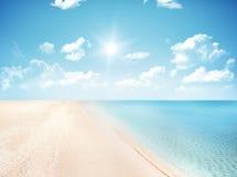 沙子和加勒比海 免版税图库摄影