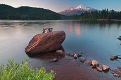 美丽的沙斯塔山原野 免版税库存图片