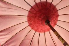 美丽的沙滩伞-巴厘岛样式 免版税库存图片