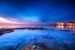 美丽的沿海城市 库存照片