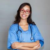 美丽的法国护士画象  免版税库存照片