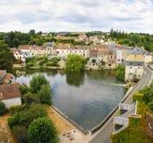 美丽的法国村庄 免版税库存图片