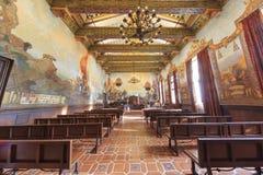 美丽的法院在Solvang,加利福尼亚 库存图片