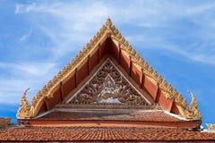 美丽的泰国寺庙屋顶 库存图片