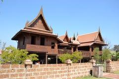 美丽的泰国房子。 免版税库存图片
