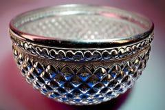 美丽的泰国银色碗 免版税库存图片