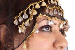 美丽的流浪的妇女 免版税库存照片