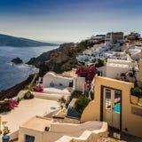 美丽的海岛圣托里尼 库存图片