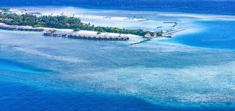 美丽的海岛在马尔代夫 免版税图库摄影