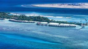 美丽的海岛在马尔代夫 免版税库存照片