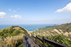 美丽的海岸在台湾 免版税图库摄影