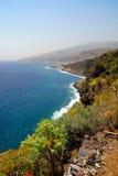 美丽的海岸la palma 免版税库存图片