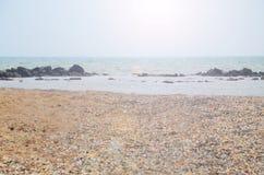 美丽的海海洋在晴天 库存照片