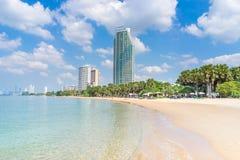美丽的海海滩芭达亚泰国 免版税库存图片