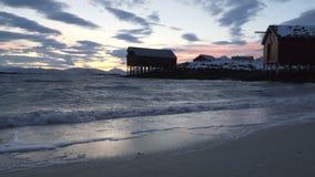 美丽的海湾在北部挪威 影视素材