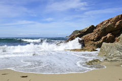美丽的海滩在加利西亚西班牙 库存图片