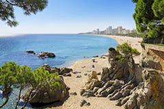 美丽的海滩在西班牙 免版税图库摄影