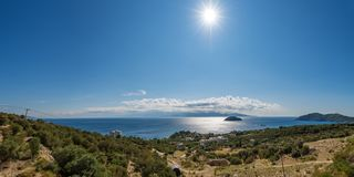美丽的海滩希腊 免版税库存图片