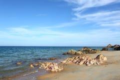 美丽的海滩 库存图片