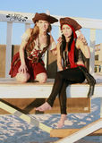美丽的海盗 库存照片