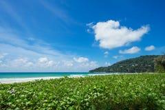 美丽的海运 海滩karon普吉岛泰国 聚会所 库存照片