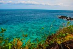 美丽的海运 Apo,菲律宾,从上面的看法 免版税库存照片