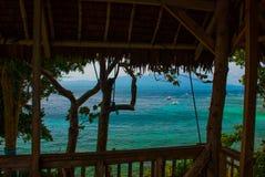 美丽的海运 Apo,菲律宾,从上面的看法 免版税库存图片