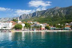 美丽的海滩在克罗地亚 库存照片
