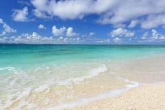 美丽的海滩在冲绳岛 图库摄影