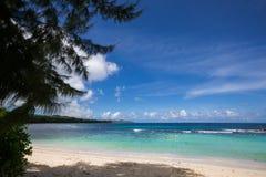 美丽的海滩在塞舌尔群岛 免版税库存照片