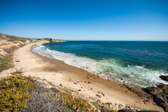 美丽的海滩在橘郡,加州 库存图片