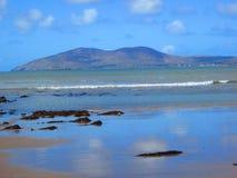 美丽的海滩在爱尔兰 库存图片