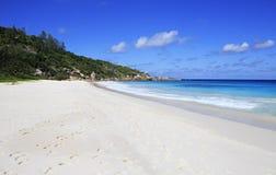 美丽的海滩小的Anse 库存照片