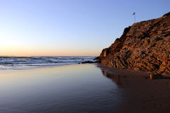 美丽的海滩绞盘 库存图片
