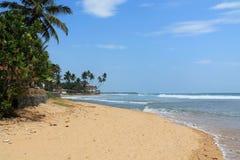 美丽的海滩 库存照片