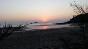 美丽的海滩! 库存图片