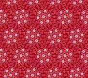 美丽的深红色装饰品无缝的样式 免版税库存照片