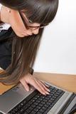 美丽的深色的企业女孩 免版税库存图片
