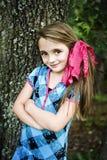 美丽的深色的女孩 免版税库存图片