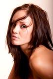 美丽的深色的妇女年轻人 库存照片