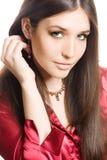 美丽的深色的妇女年轻人 图库摄影