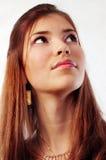 美丽的深色的性感的妇女年轻人 免版税库存照片