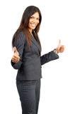 美丽的深色的成功的妇女 免版税库存图片