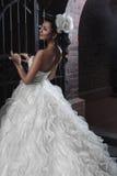美丽的深色的新娘 免版税库存照片