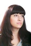 美丽的深色的白人妇女年轻人 免版税库存图片