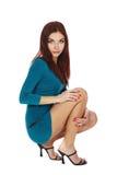 美丽的深色的腿长的年轻人 免版税库存图片