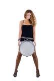 美丽的深色的鼓圈套 图库摄影
