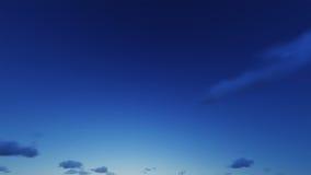 美丽的清楚的夜空,云彩是好 图库摄影